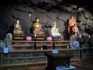 Prayer hall in a cave - Vairocana - Yakcheonsa Buddhist Temple - Jeju-Do Island - South Korea