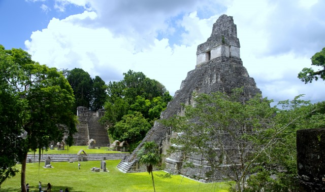 Tikal - Slim but high pyramids - giants of the rain forest - Temple II - Guatemala