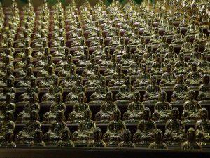Thousand Buddha statues - Prayer hall in a cave - Vairocana - Yakcheonsa Buddhist Temple - Jeju-Do Island - South Korea