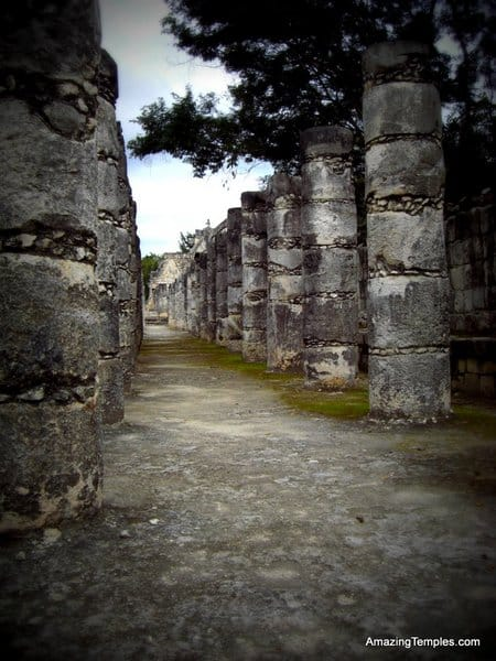 Columns in the Temple of a Thousand Warriors - Chichen Itza, Yucatan