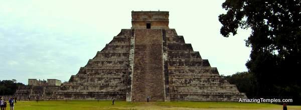 El Castillo or Pyramid of Kukulkan in the center of Chichen Itza, Mexico