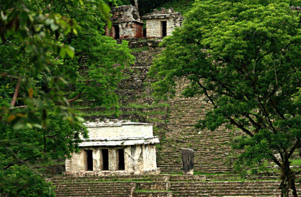 Bonampak - Main Pyramid with several Temples