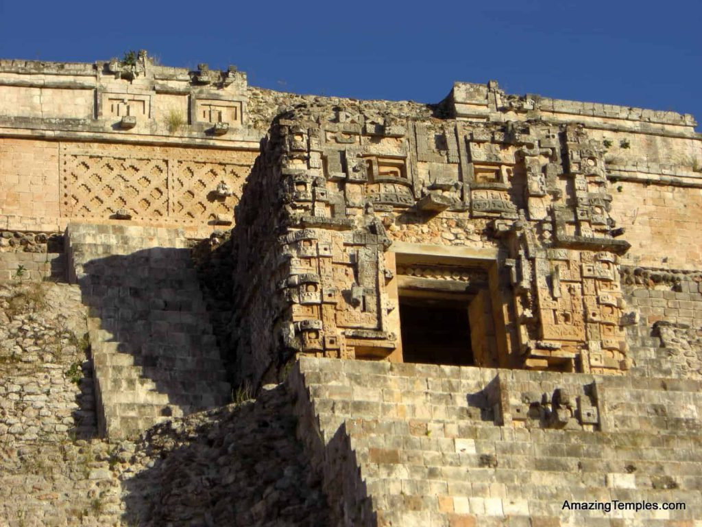 The temples on top of the pyramid of the Magician