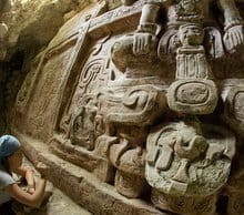 Giant Maya Frieze found in Holmul  – Guatemala