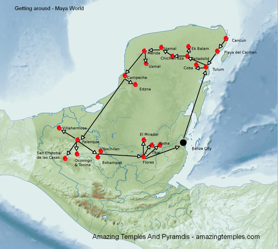 Maya World Map.Getting Around Maya World Full Map