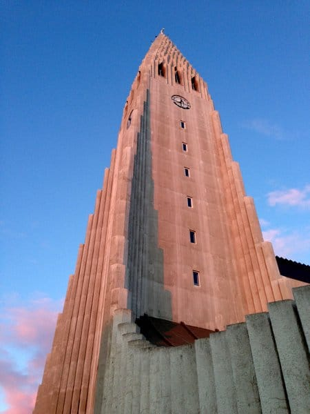Tower with clock - Iceland - Hallgrimskirkja - Hallgrims Church - Iceland Tours 885