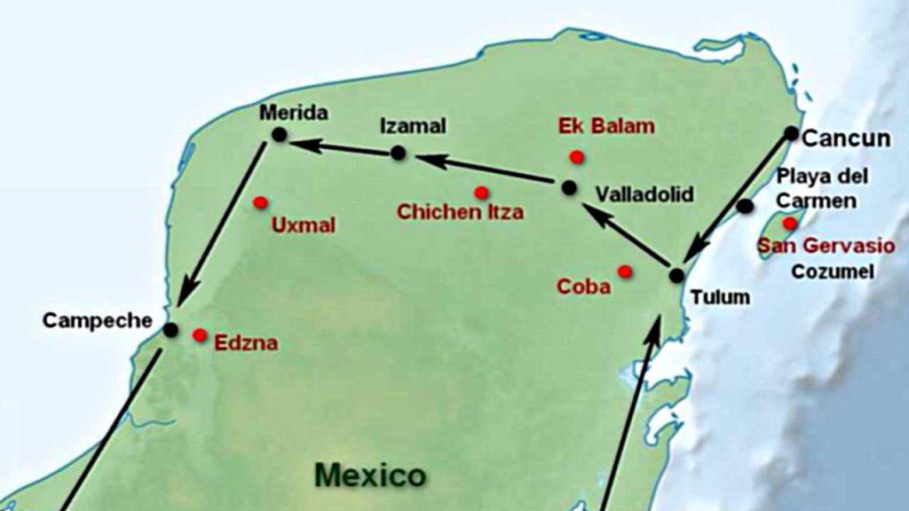 Reiseplanung - Yucatán - Mayastätten