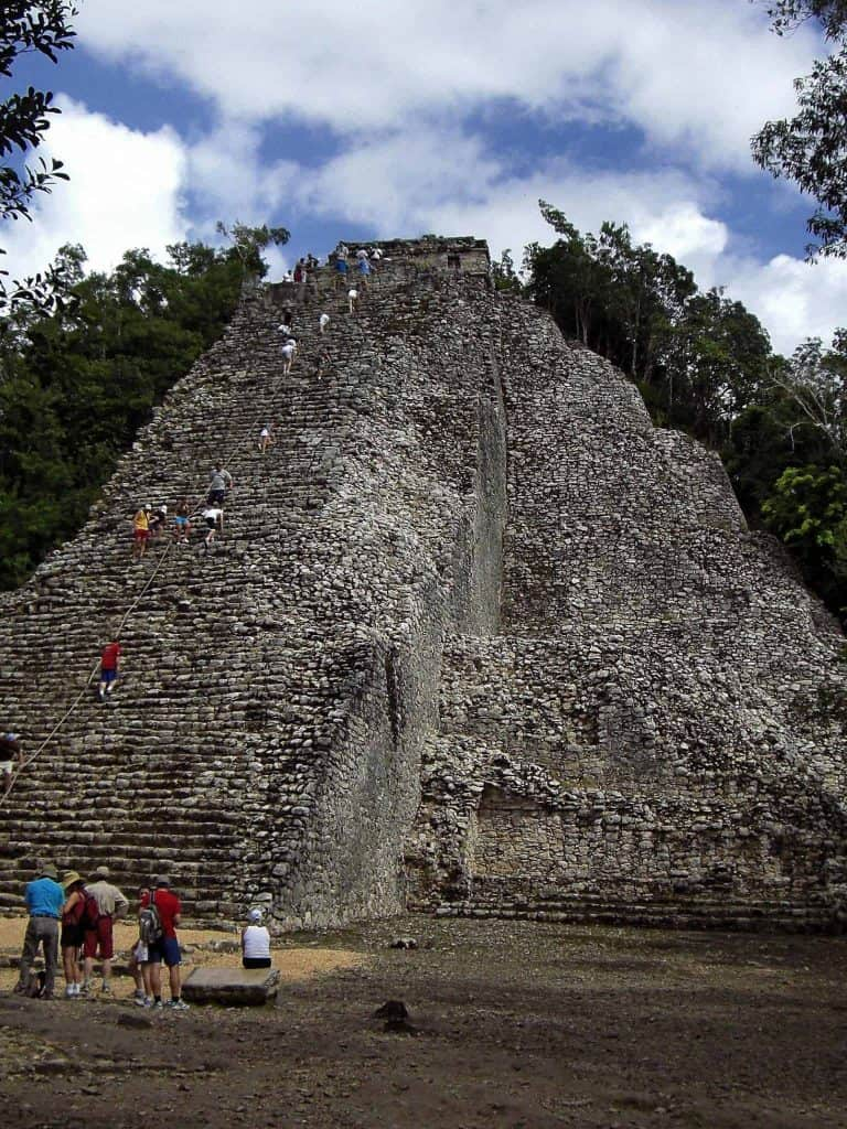 Nohoch Mul - the highest pyramid in the northern Yucatán peninsula