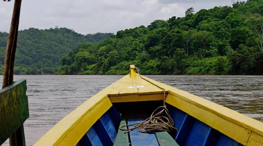 Auf dem Rio Usumacinta- Yaxchilan