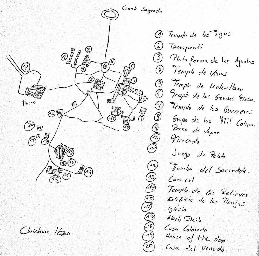 Karte Chichen Itza