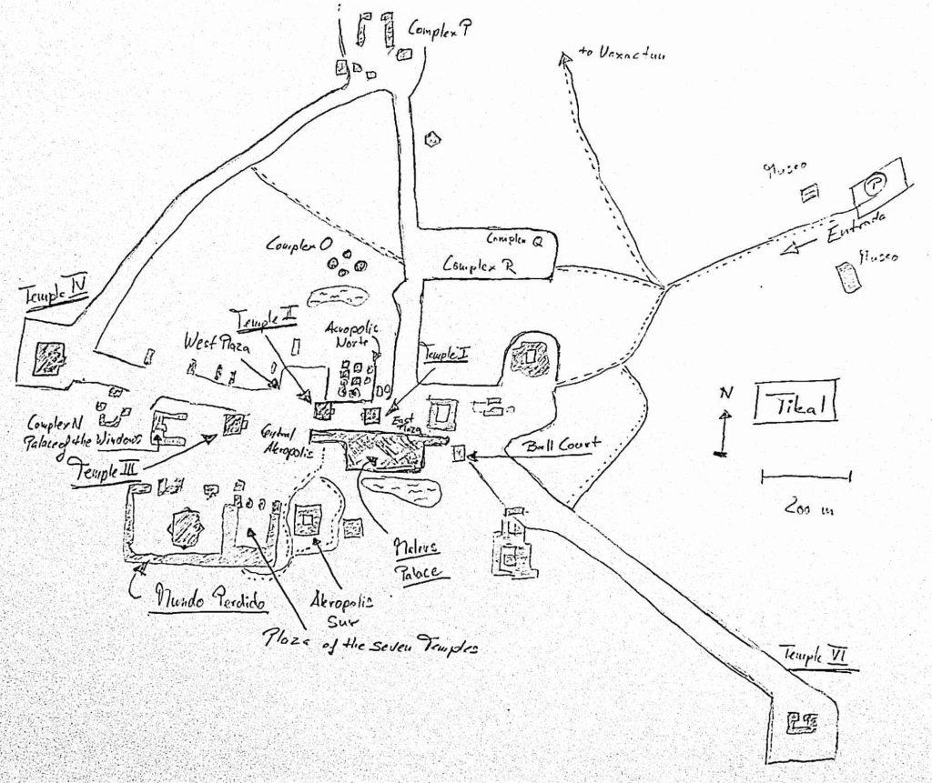 Karte Tikal