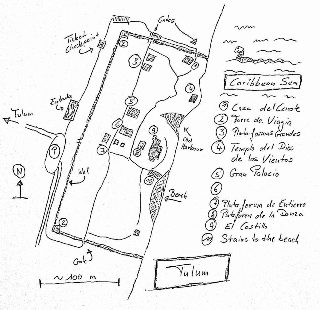 Karte Tulum