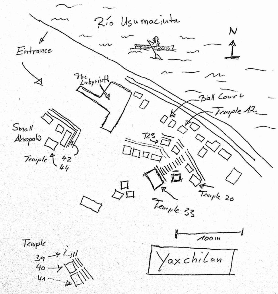 Karte Yaxchilan
