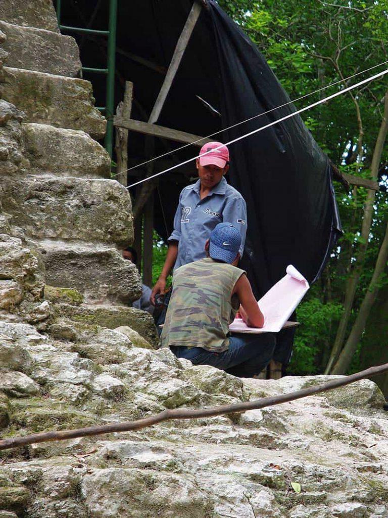 Restaurierungsvorbereitung - La Danta in El Mirador