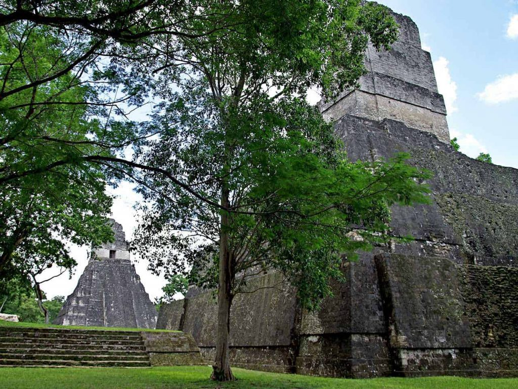 Tikal: Temple 1 and 2, standing face to face
