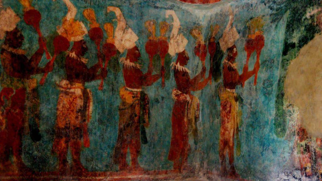 Wandmalerei in Bonampak