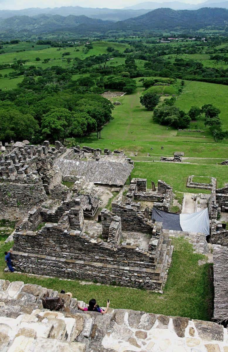 Look from the pyramid of Tonina to the valley of Ocosingo – Chiapas