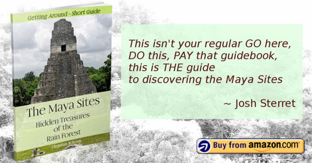 Advertisement for the Maya Sites - Hidden Treasures of the Rain Forest