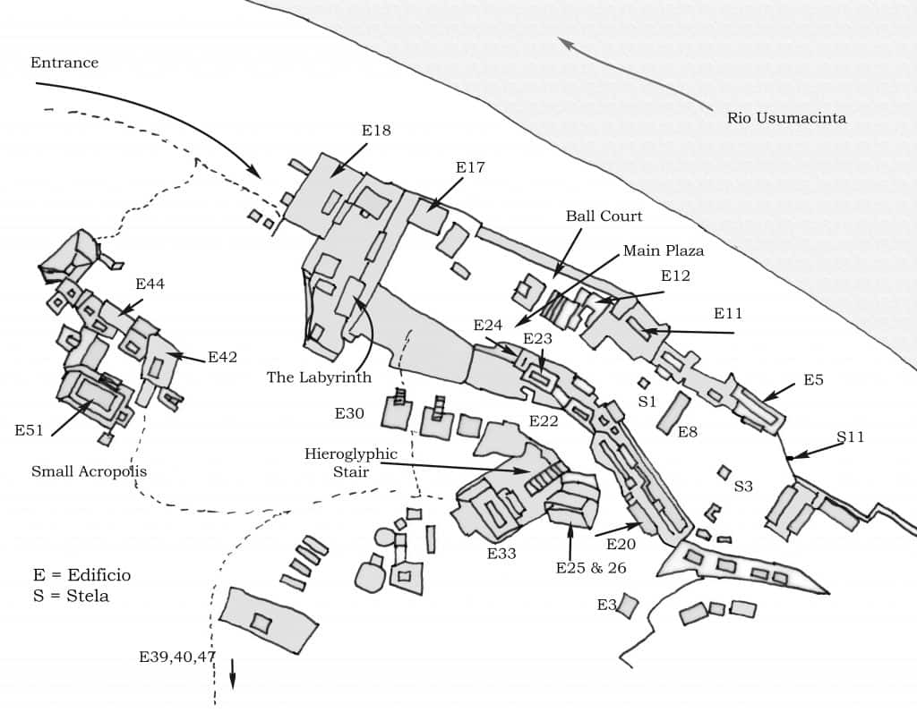 Map Yaxchilan