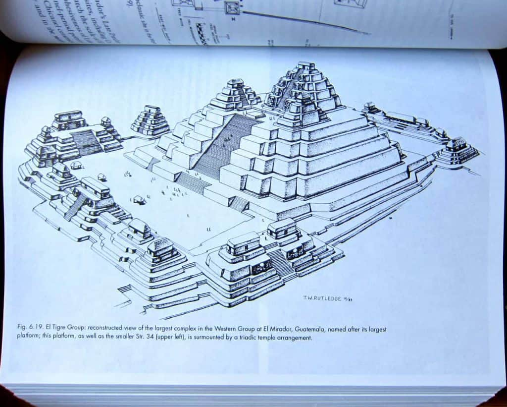 Reconstruction image of La Danta in El Mirador - The Ancient Maya by Robert J. Sharer and Loa P. Traxler