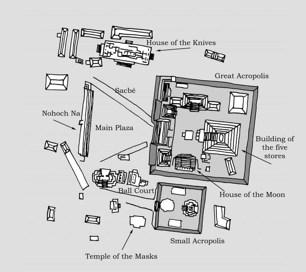 Edzná Map