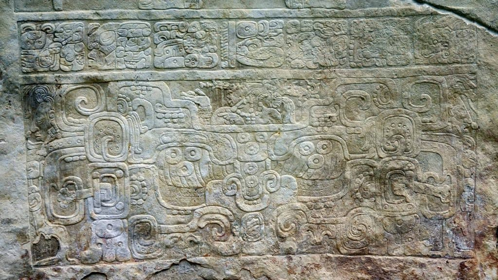 Lower part of stela 1 - Bonampak